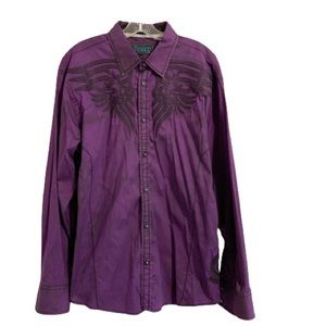 SIGNATURE ROAR Embroidered Western Rodeo Shirt